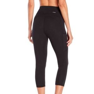 Adidas techfit cropped gym workout pants